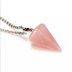 5/$25 💗 Rose Quartz Pendulum Necklace